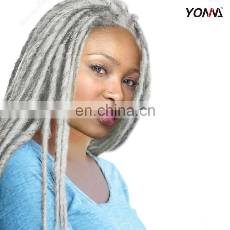 Factory price non-remy hair extensions gray afro kinky human hair bulk for dreadlocks