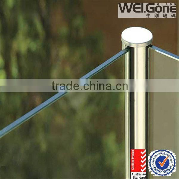 glass deck railing bracket with AS/NZS2208