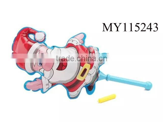Cartoon and cute pvc inflatable baseball bat toy with ball inflatable funny baseball bat toys inflatable kids baseball bat