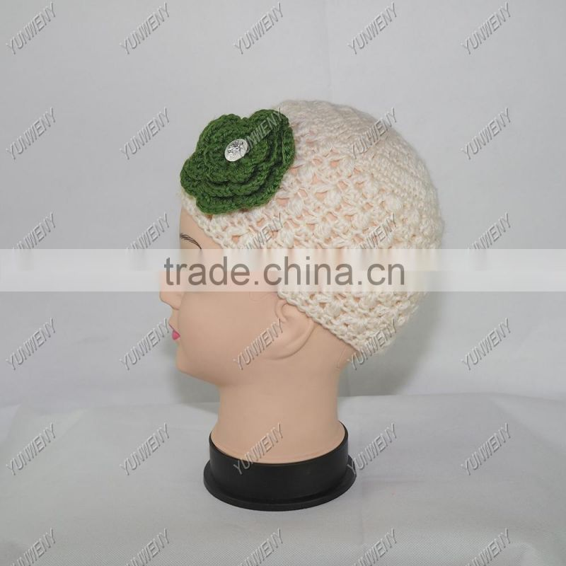 high quality handmade flowers crochet hat for baby knitting pattern free crochet the flowers can exchange flower,hat for childr
