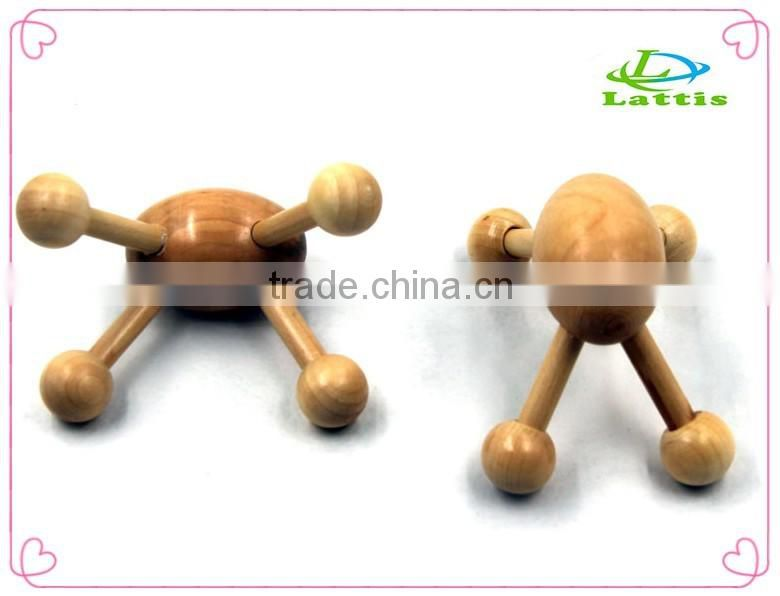 Handheld Wooden Back Roller Massager Body Care Wood Beads Back