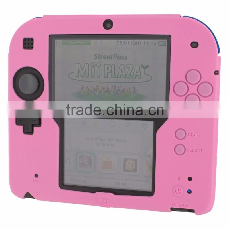 Soft silicone protective cover rubber bumper case for Nintendo 2DS rubber case