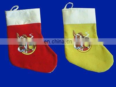 Hot selling promotional Christmas Stocking santa stocking xmas stocking
