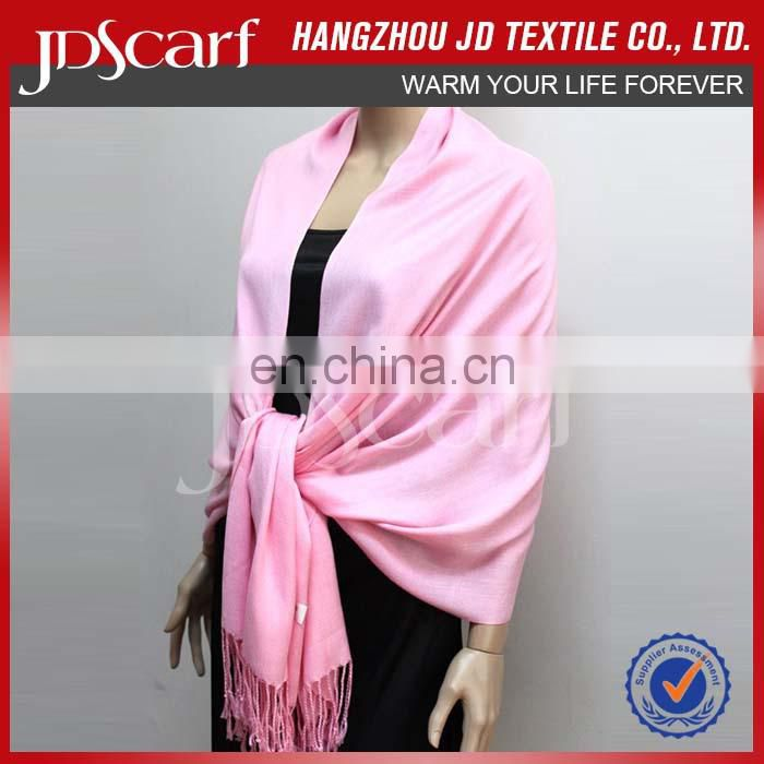 Unisex Factory pashmina hijab Plain color Pashmina Scarf Shawl Wrap Throw