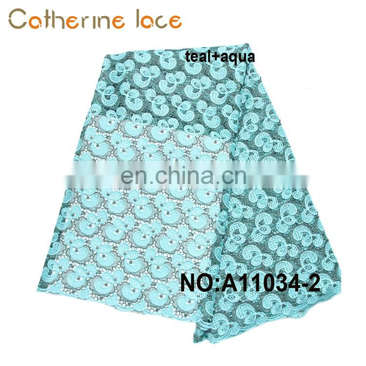 Catherine 2018 Africa High Quality Swiss Voile Lace Fabric For Wedding Dress