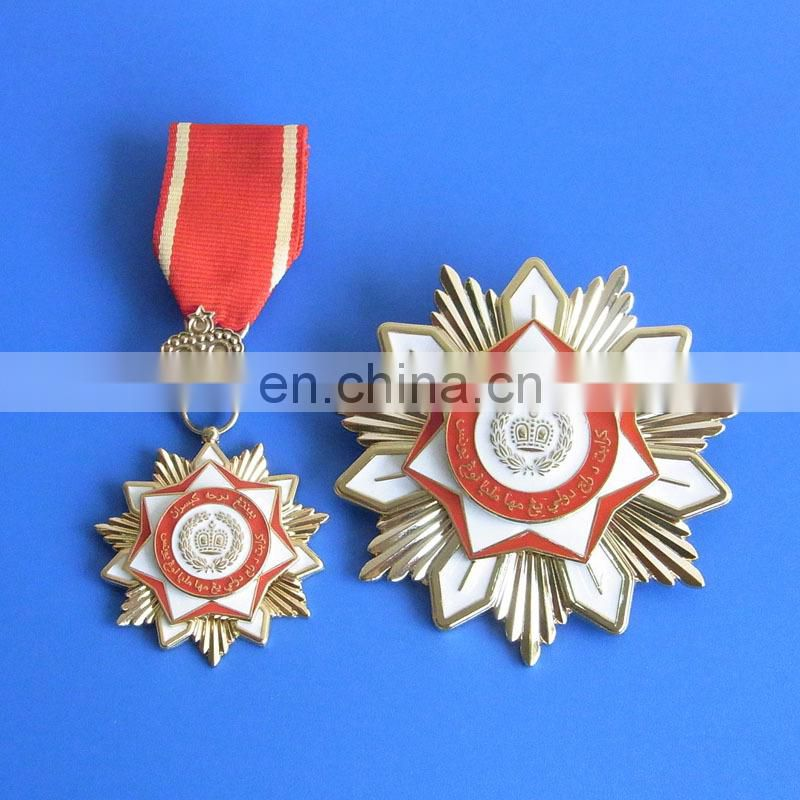 Russia honor holiday souvenir memorial gifts gold plate soft enamel 3D metal medal