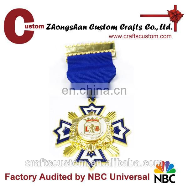 Wholesale custom Antique silver Souvenir medals with stone