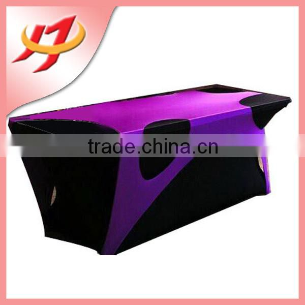 Flame retardant wedding decoration lycra spandex chair covers and table covers ,wholesae plastic table covers bar table covers