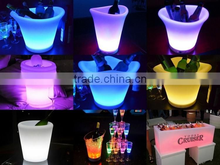 plastic led ice bucket color changing ightclubs LED light up ice bucket Champagne beer bucket