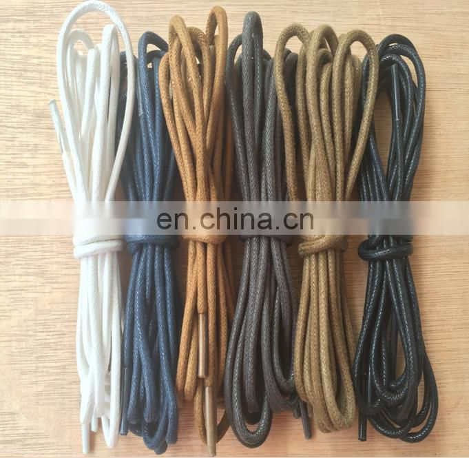 Manufacturers selling custom round waxed shoelace