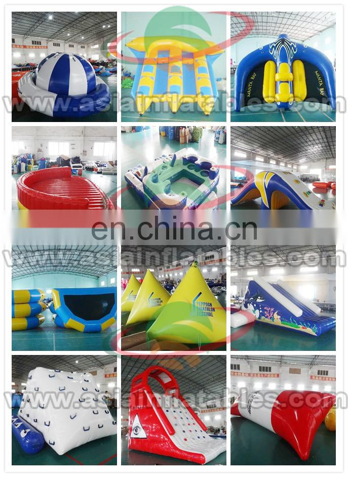 Steel frame swimming pool /water park with water slide for rental