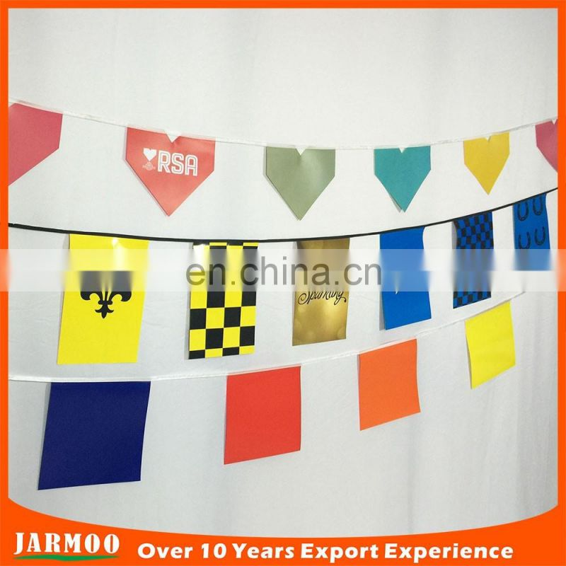 custom indoor bunting and string flag