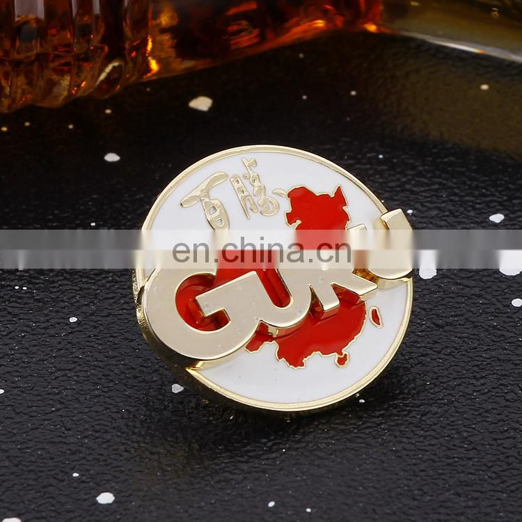 Custom round metal pin badges with logo