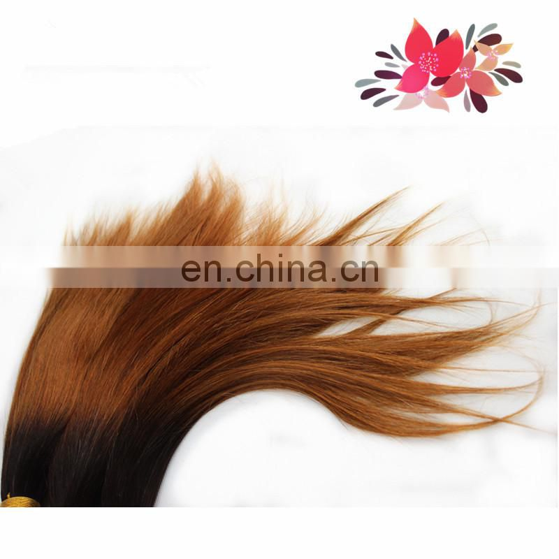 the best aliexpress hair Two tone Color ombre straight wave grade 7a virgin real mink Brazilian hair weave
