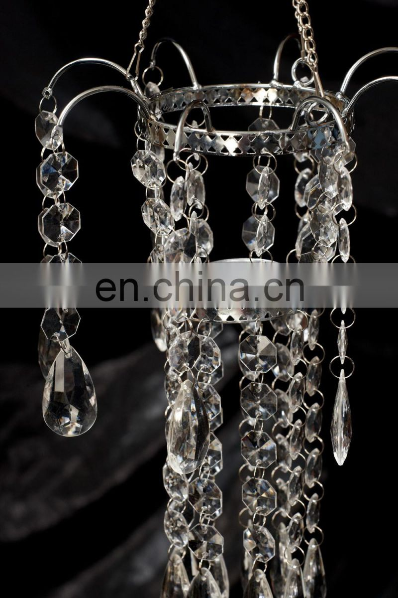 Acrylic Votive Holder Chandelier For Wedding Decor