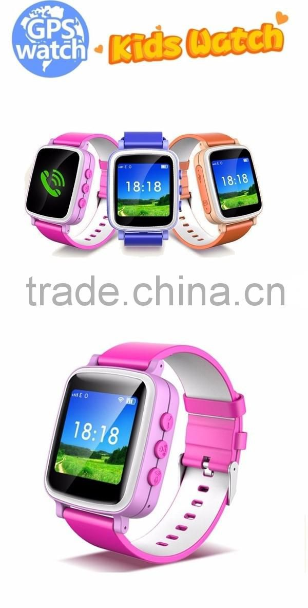 LCD WIFI Positioning children Anti lost monitor android smart watch Q80 sos call kids GPS tracker A3 with Sim card