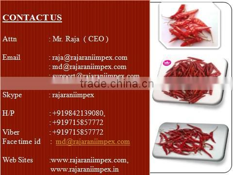 SANNAM/S4 NEW Crop Red Chilli
