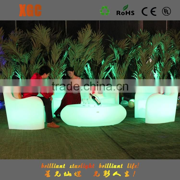 living room sofas furniture with 16 color led lights for outdoor