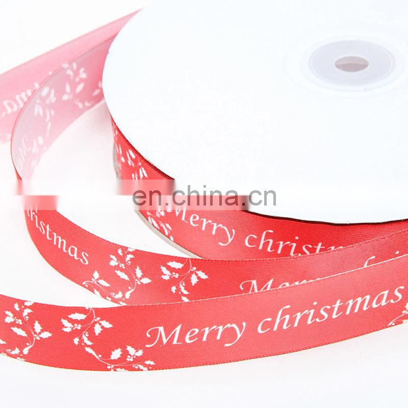 hot sell stock printed christmas celebrate it ribbon