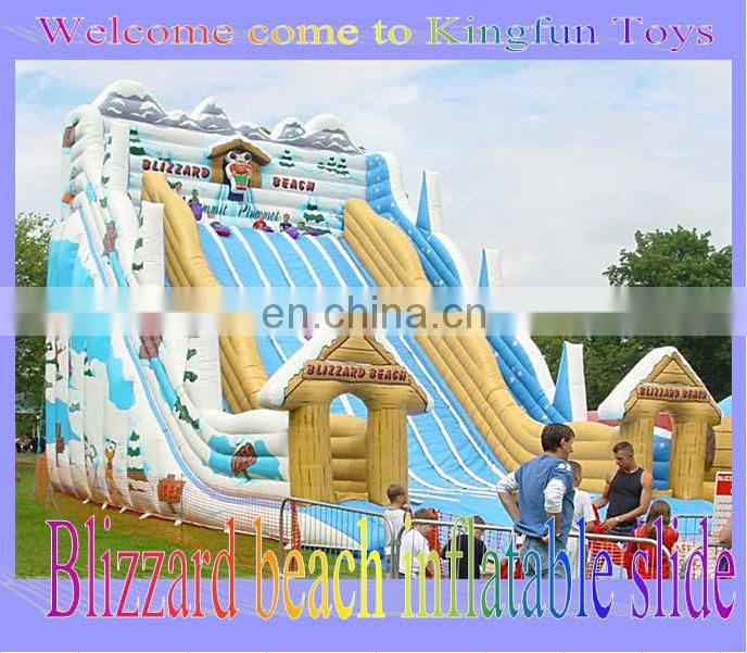 Blizzard beach inflatable slide for sale