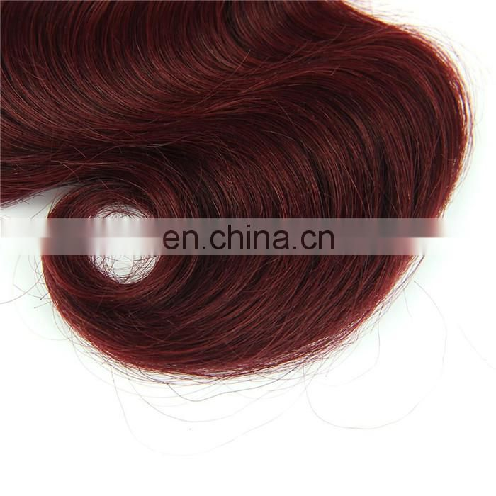 Factory wholesale colored brazilian hair