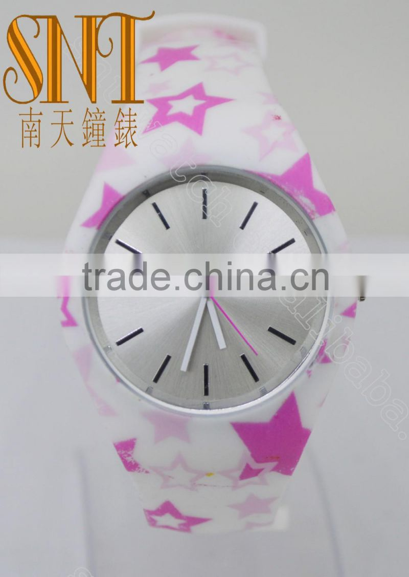 2016 New fashion star silicone watch for ladies on sale