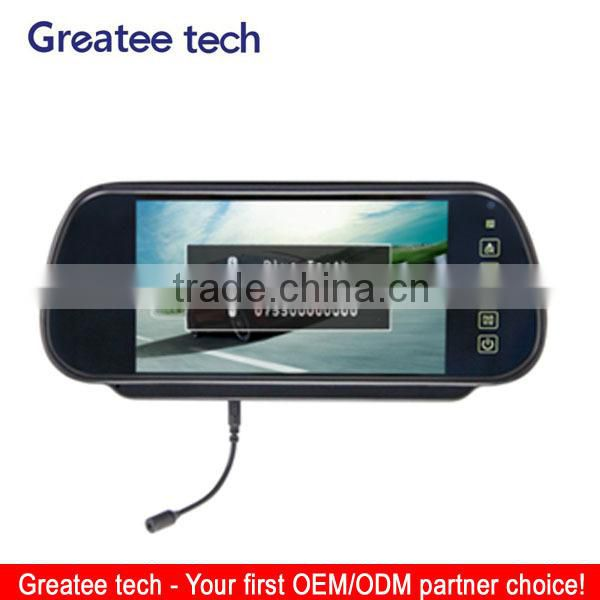 7inch car rear view mirror monitor with touch screen bluetooth