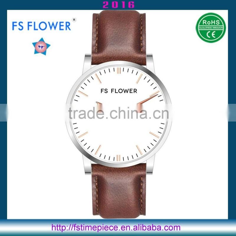FS FLOWER - Customized Watches Own Brands Genuine Calf Leather Watch Strap