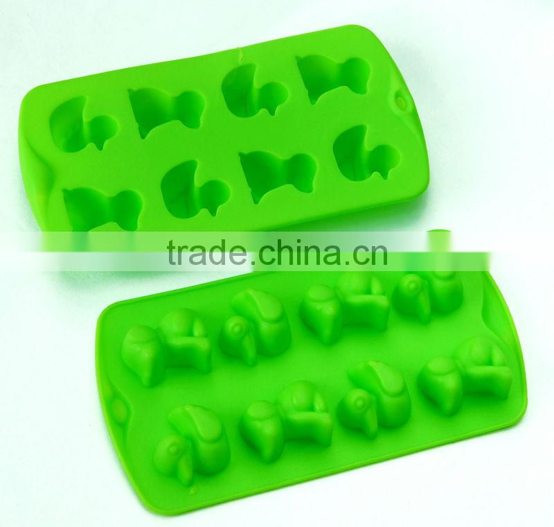 Bow tie and heart design 100% FDA/LFGB food grade ice-tray ice mold