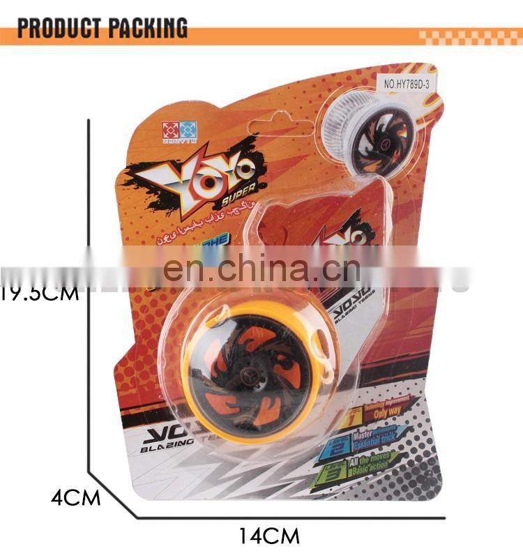 Promotional plastic toy printed logo super high-speed yoyo wholesale