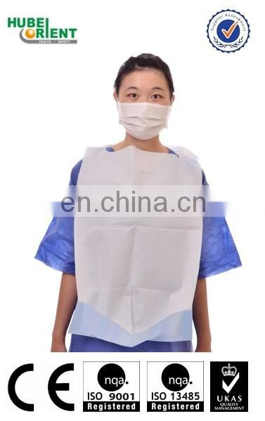 Disposable colorful dental bibs for adult or children