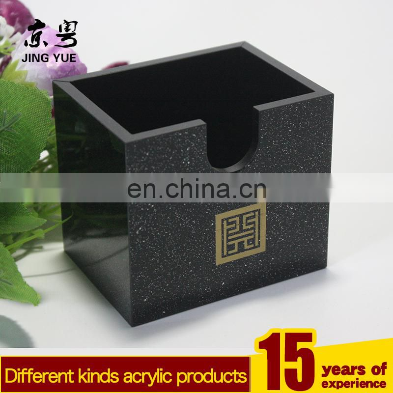 Customized durable acrylic napkin holder acrylic paper towel dispenser