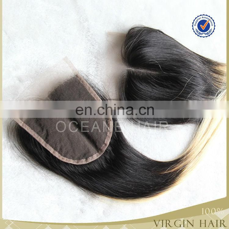 New arrival charming ombre hair extension lace closure