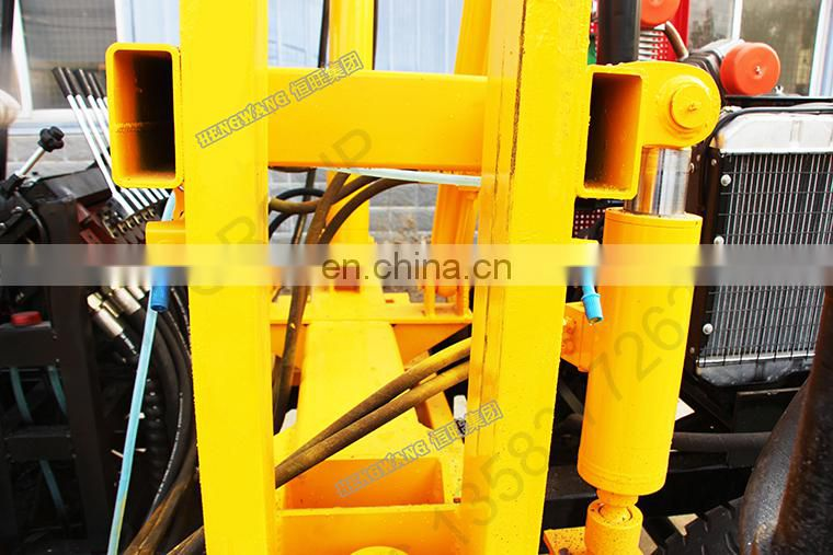 Highway Guardrail Hydraulic Pile Driver For Posts Installing
