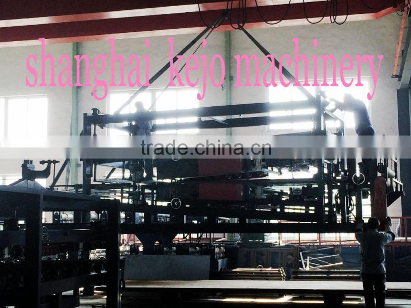 High quality EPS/glass woll/rock woll Sandwich Panel Roll Forming Machine/color steel insulation composite board for dust-free