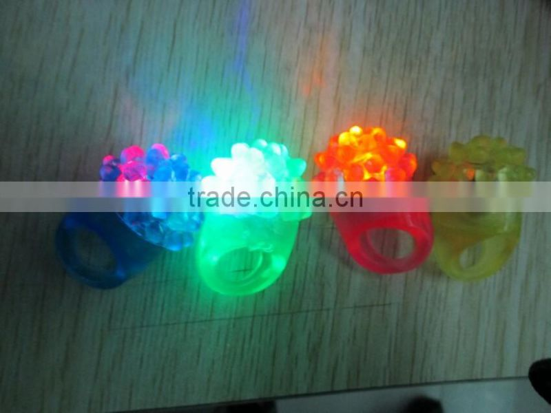 Blinking light up led finger ring