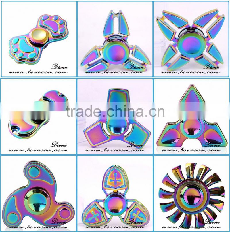 Zinc Alloy Fingertip Gyro The Crusader Hand Spinner EDC Toy Finger Spinner Gyro Focus Toy