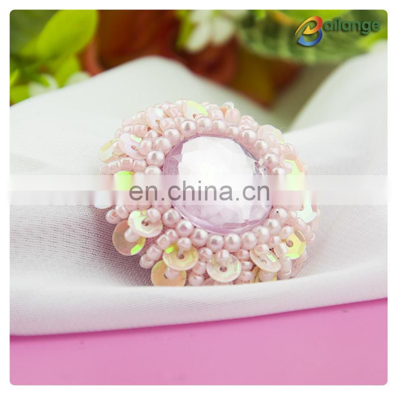 Handmade accessories Bailange wholesale beaded customized star shaped button