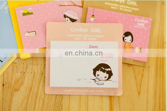 Kawaii Cute Cartoon Sticky Note for Kids