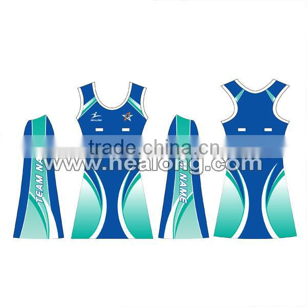 sublimated custom netball dress with new design
