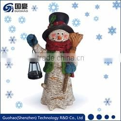 Outdoor kids statue with lanterns for Christmas decoration