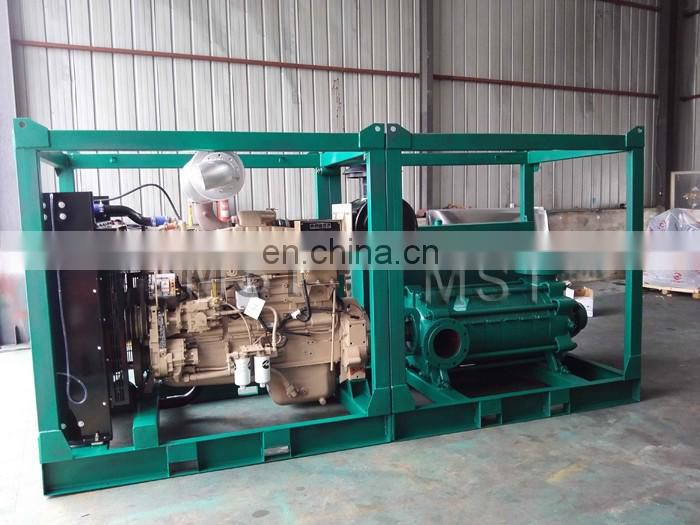 Horizontal multistage electric water transfer pumps