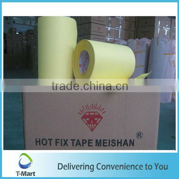 2015 white hot fix tape in China hot fix transfer tape hot fix tape roll