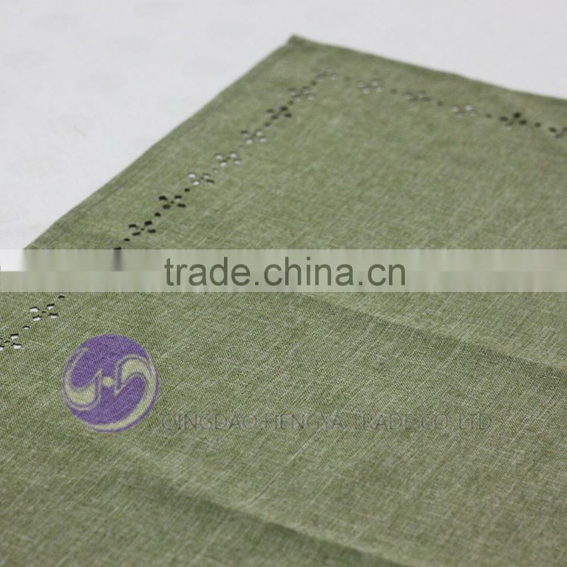 cheap wholesale laser cutting dining polyester fabric tablecloth