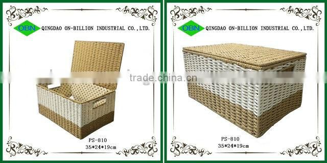 Wholesale cheap woven baby clothing / office storage paper rope box with lid