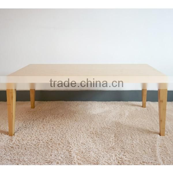 Living room Elegant nice modern square bamboo Coffee table