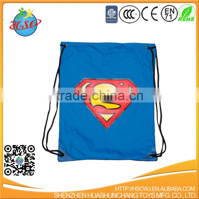 Large Bright Nylon Drawstring Backpacks for Outdoor Travel Sports Hiking