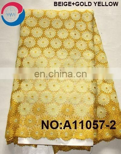 Nigerian styles cord lace latest fashion dress making swiss guipure lace