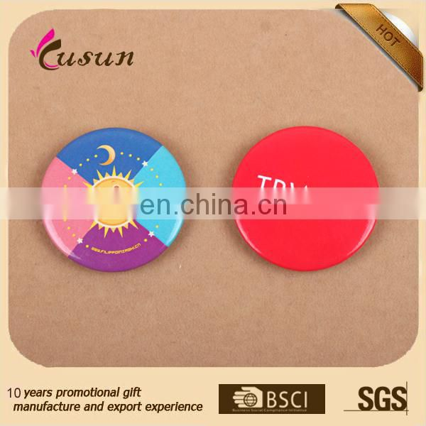 Good Quality Popular Promotional Gifts Color Printing safety Party Custom Tin Button Badge