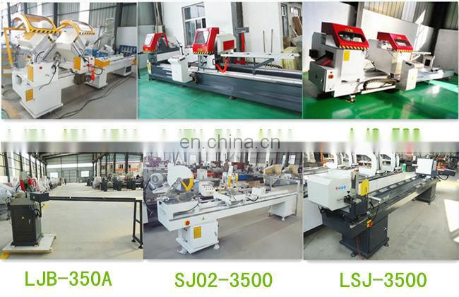 Double blades aluminum extrusion cutting machine